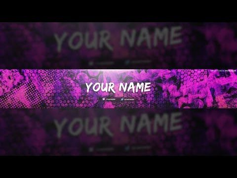 Free Colorful Texture Youtube Banner Template! +Tutorial intended for Adobe Photoshop Banner Templates