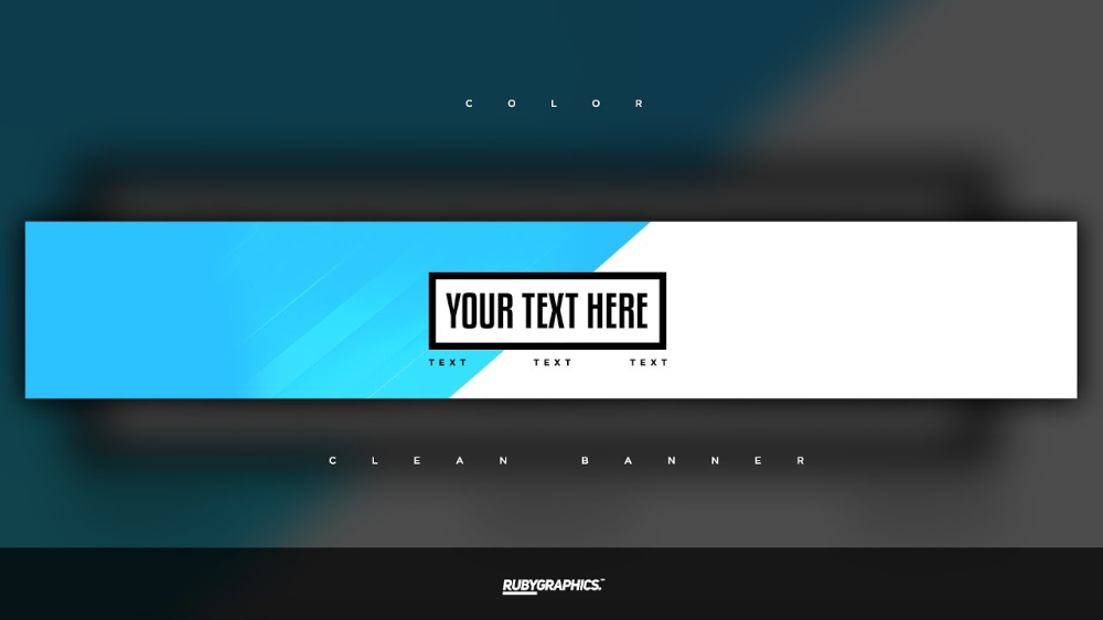 Free Gfx: Free Photoshop Banner Template: Clean 2D Custom inside Adobe Photoshop Banner Templates