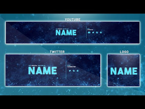Free Youtube Banner Template | Photoshop (Banner + Logo + in Adobe Photoshop Banner Templates