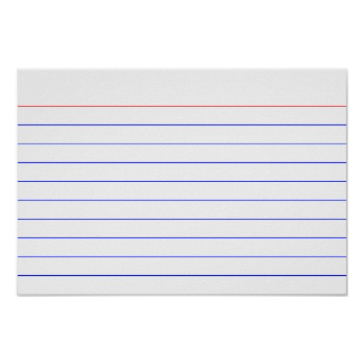 Printable 5×7 Index Cards | Shop Fresh throughout 3X5 Blank Index Card Template