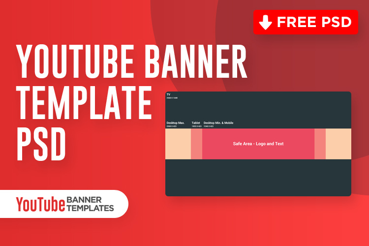 Youtube Banner Template Psd (Free Download) - 2020 pertaining to Adobe Photoshop Banner Templates
