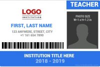 10 Best Ms Word Id Card Templates For Teachers/professors for Teacher Id Card Template
