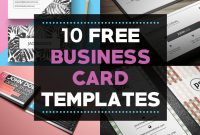 10 Free Business Card Templates For Bloggers – Beautiful throughout Free Complimentary Card Templates