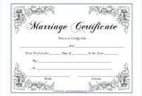10+ Marriage Certificate Templates | Wedding Certificate pertaining to Certificate Of Marriage Template