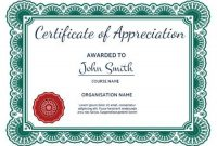 100+ Certificate Of Appreciation Templates To Choose From pertaining to Certificates Of Appreciation Template