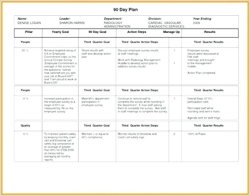 100 Day Business Plan Template With Day Business Plan pertaining to Interview Business Plan Template