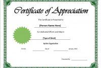 11 Free Appreciation Certificate Templates – Word Templates in Certificates Of Appreciation Template