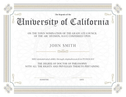 11 Free Printable Degree Certificates Templates | Hloom in Mock Certificate Template