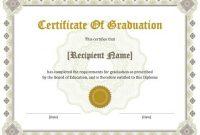 11 Free Printable Degree Certificates Templates   Hloom regarding College Graduation Certificate Template