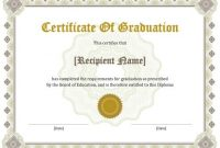 11 Free Printable Degree Certificates Templates | Hloom with regard to Free Printable Graduation Certificate Templates