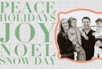 11 Free Templates For Christmas Photo Cards intended for Free Holiday Photo Card Templates