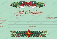 12+ Beautiful Christmas Gift Certificate Templates For Word Pertaining To Microsoft Gift Certificate Template Free Word