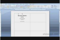 12 Visiting Business Card Template Free Word 2007 In for Business Card Template For Word 2007