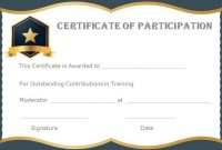 13+ Training Participation Certificate Templates – Free inside Participation Certificate Templates Free Download