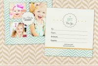 14 Photography Gift Certificate Psd Template Images intended for Photoshoot Gift Certificate Template