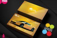 150+ Free Business Card Psd Templates regarding Automotive Business Card Templates