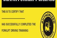 15+Forklift Certification Card Template For Training intended for Forklift Certification Card Template