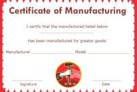 16 Downloadable And Printable Certificate Of Compliance for Certificate Of Manufacture Template