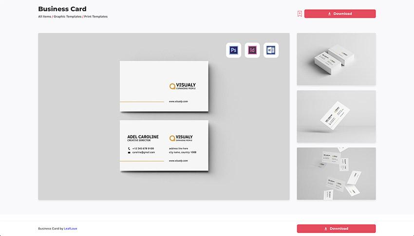 16 Free & Premium Google Docs Business Card Templates To Throughout Google Docs Business Card Template