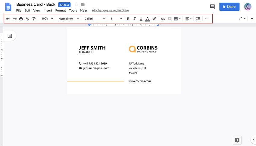 16 Free & Premium Google Docs Business Card Templates To with Google Docs Business Card Template
