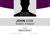 16 Id Badge & Id Card Templates {Free} – Templatearchive regarding Portrait Id Card Template