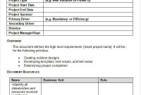 19+ Business Requirements Document Examples – Pdf | Examples inside Business Requirement Document Template Simple