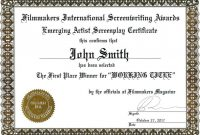 1St 2Nd 3Rd Place Certificate Template Templates First Award with First Place Certificate Template