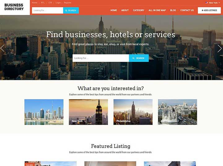 20 Best WordPress Directory Themes Of 2020 For Business With WordPress Business Directory Template