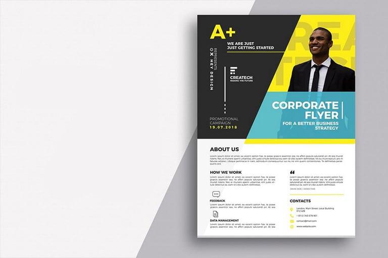 20+ Business Flyer Templates (Word & Psd) | Design Shack with New Business Flyer Template Free