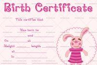 22+ Birth Certificate Templates – Editable & Printable Designs pertaining to Editable Birth Certificate Template