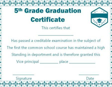 25+ Free Graduation Certificates : Why We Love Them (And You for 5Th Grade Graduation Certificate Template