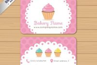 25 Free Pink Business Card Templates For Download with Cake Business Cards Templates Free