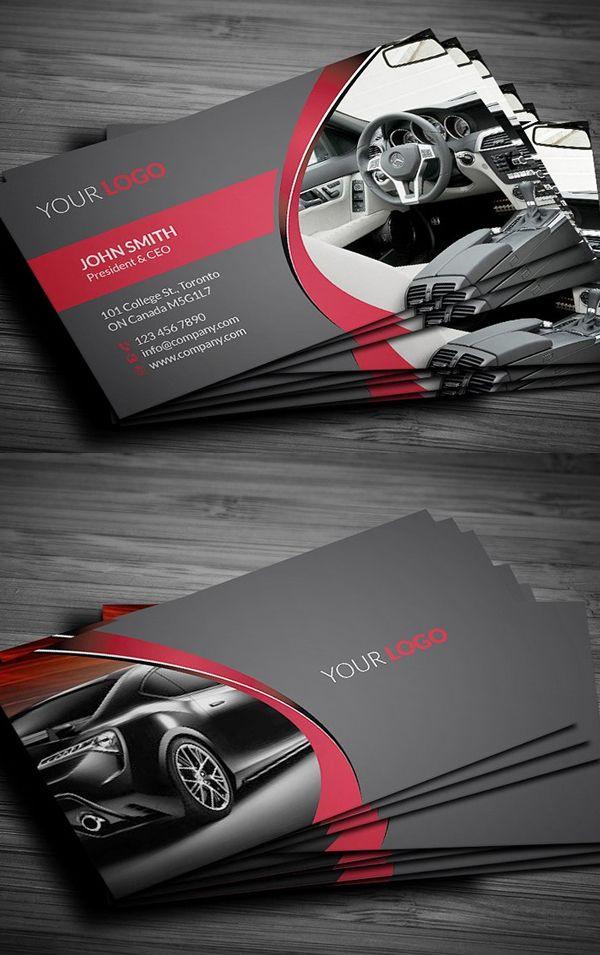 25 New Modern Business Card Templates (Print Ready Design in Automotive Business Card Templates