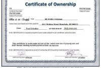 28+ [ Ownership Certificate Template ] | Stock Certificate with regard to Ownership Certificate Template