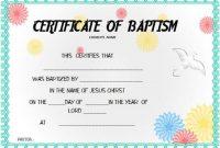 30+ Baptism Certificate Templates – Free Samples (Word inside Baptism Certificate Template Word