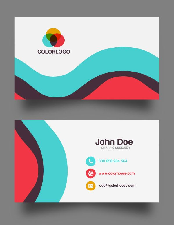 30 Free Business Card Psd Templates & Mockups | Design for Templates For Visiting Cards Free Downloads
