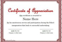 31 Free Certificate Of Appreciation Templates And Letters throughout Certificates Of Appreciation Template