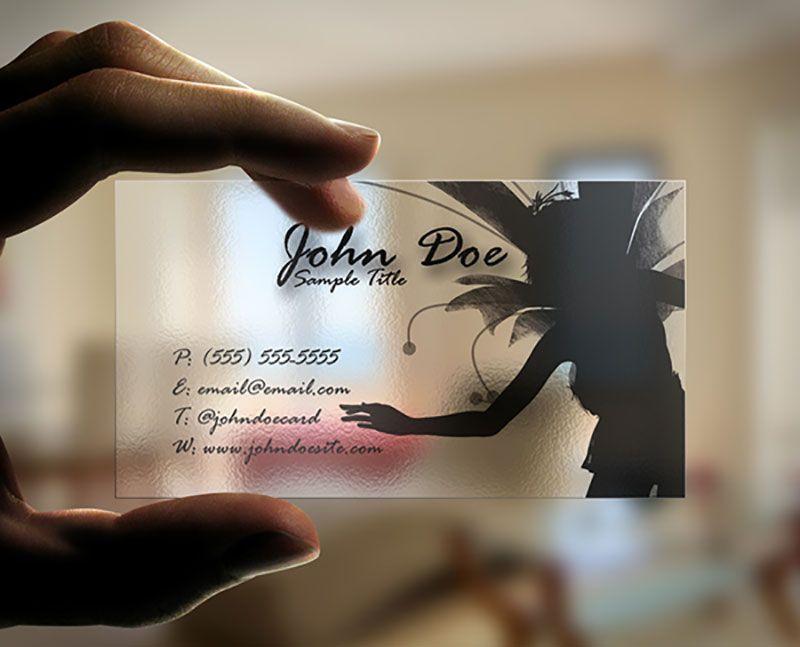 35+ Translucent Plastic Business Card Designs | Transparent In Transparent Business Cards Template