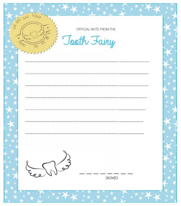 37 Tooth Fairy Certificates & Letter Templates - Printable intended for Free Tooth Fairy Certificate Template