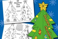 3D Christmas Tree Card Template – Messy Little Monster For 3D Christmas Tree Card Template