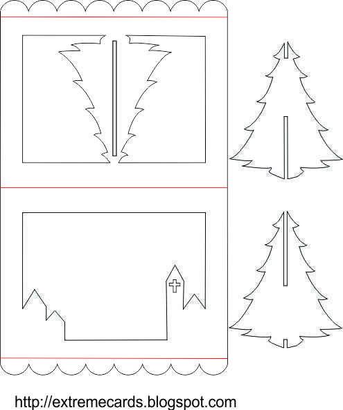 3D Christmas Tree Pop Up Card Tutorial | Pop Up Card within 3D Christmas Tree Card Template