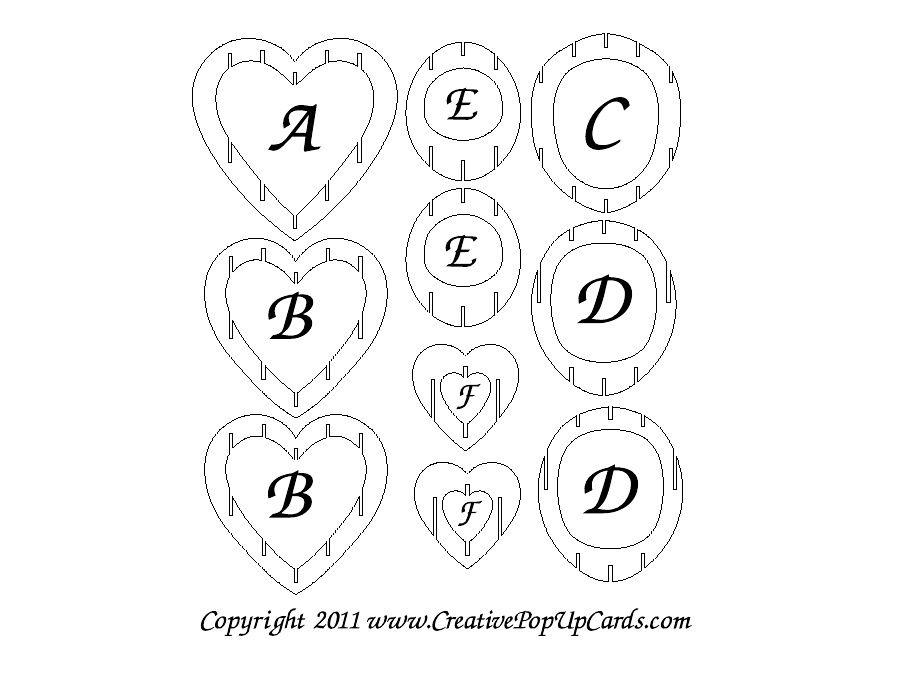 3D Heart Template | Thiệp Sinh Nhật, Thiệp, Hộp Quà Tặng throughout 3D Heart Pop Up Card Template Pdf