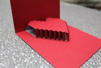 3D Heart Valentine's Card – Free Template | Heart Pop Up with 3D Heart Pop Up Card Template Pdf