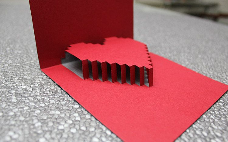 3D Heart Valentine's Card - Free Template | Heart Pop Up with regard to Heart Pop Up Card Template Free