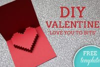 3D Heart Valentine's Card – Free Template throughout 3D Heart Pop Up Card Template Pdf
