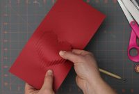 3D Heart Valentine's Card – Free Template with 3D Heart Pop Up Card Template Pdf