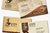 4 Business Card Templates For Coffee Shops | Grafis for Coffee Business Card Template Free