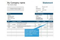 40 Billing Statement Templates [Medical, Legal, Itemized + More] with regard to Credit Card Statement Template Excel