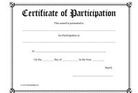 40+ Certificate Of Participation Templates – Printable Templates intended for Participation Certificate Templates Free Download
