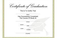 40+ Graduation Certificate Templates & Diplomas – Printable with Free Printable Graduation Certificate Templates